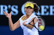 Britain's Laura Robson during her Australian Open women's singles match against Czech Republic's Petra Kvitova in Melbourne on January 17, 2013. She says her gruelling upset of Kvitova was one of the best, and toughest, of her career