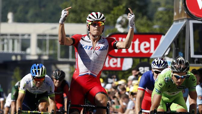 Tour de France - Kristoff denies Sagan for maiden win