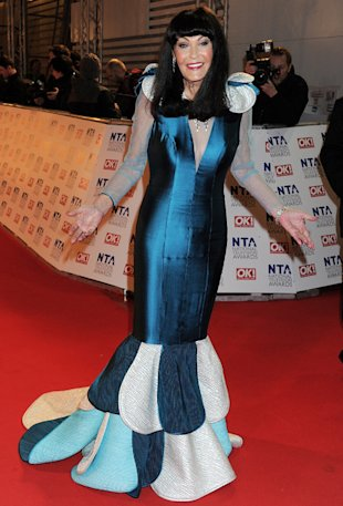 Hilary Devey at National Television Awards 2012