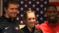 Athletes from Team USA have started training at their pre-Games camp in Birmingham. Medal hopefuls Amanda Smock, Brad Walker and Michael Tinsley gave their first media conference