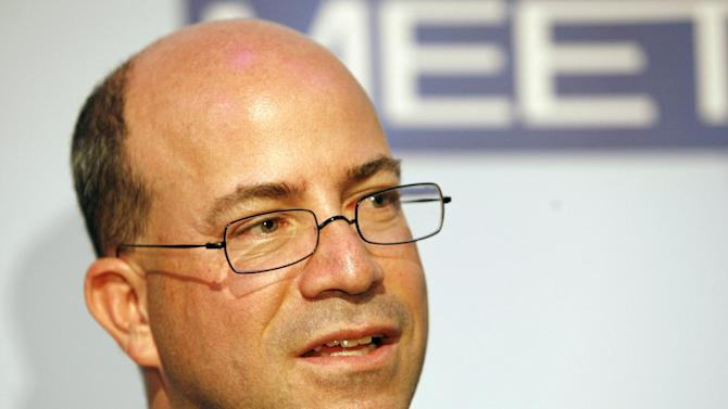 FILE - In this Wednesday, Nov. 14, 2007, file photo, Jeff Zucker, President and Chief Executive Officer of NBC Universal, is seen at the 60th anniversary celebration of NBC's Meet the Press at the Newseum in Washington. CNN on Thursday, Nov. 29, 2012, named former NBC Universal chief Jeff Zucker as its new top executive, searching for a way to turn around the original cable news network as it has lagged behind rivals Fox News Channel and MSNBC.Zucker will start in January, based in New York and reporting to Phil Kent, who runs all of the Turner networks for parent company Time Warner. (AP Photo/Charles Dharapak, File)