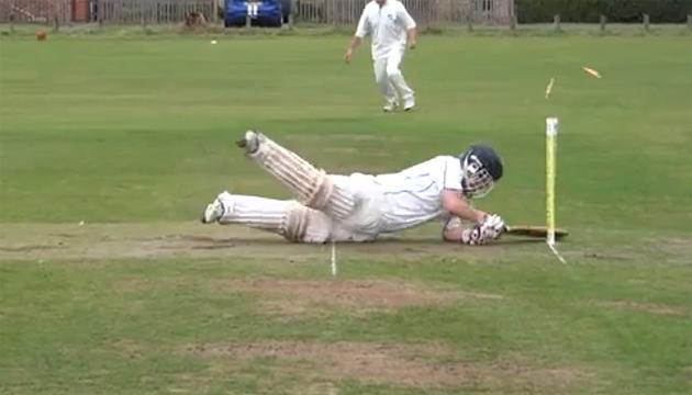 'Batsman' suffers hilarious village cricket fail