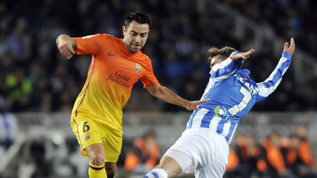 La Liga - Ten-man Barca shocked by Real Sociedad