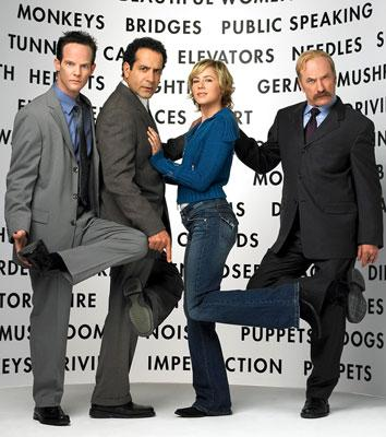 "<a href=""/baselineperson/3949290"">Jason Gray-Stanford</a>, Tony Shalhoub, Traylor Howard and Ted Levine USA Network's Monk"