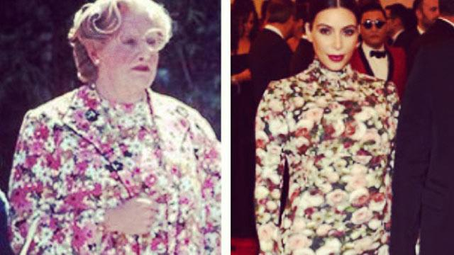 Robin Williams vs. Kim Kardashian: Who Wore It Best