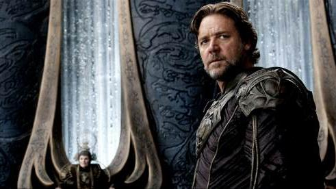 Russell Crowe as Jor-El in 'Man of Steel' -- Clay Enos