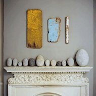 beach stone mantle