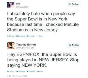 Super Bowl XLVIII Location Stimulates Social Media Conversations image Super Bowl location Tweets1