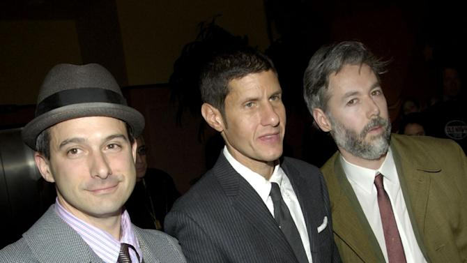 "FILE - In this March 28, 2006 file photo, members of the Beastie Boys, from left, Adam Horovitz, known as Adrock, Michael Diamond, known as Mike D and Adam Yauch, known as MCA, arrive at the premiere of their new film ""Awesome; I ... Shot That!"" in New York.  The film, which documents a 2004 Beastie Boys concert at New York's Madison Square Garden, is comprised of footage shot by 50 fans who were given cameras to record the show. Yauch, the gravelly voiced Beastie Boys rapper who co-founded the seminal hip-hop group, has died at age 47. The cause of death wasn't immediately known. Yauch, who's also known as MCA, was diagnosed with a cancerous parotid gland in 2009. (AP Photo/Jason DeCrow, file)"