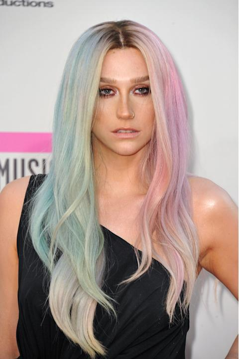 FILE - This Nov. 24, 2013 file photo shows musician Ke$ha at the American Music Awards at the Nokia Theatre L.A. Live in Los Angeles. Ke$ha's representative confirmed Friday, March 7, 2014, that the s