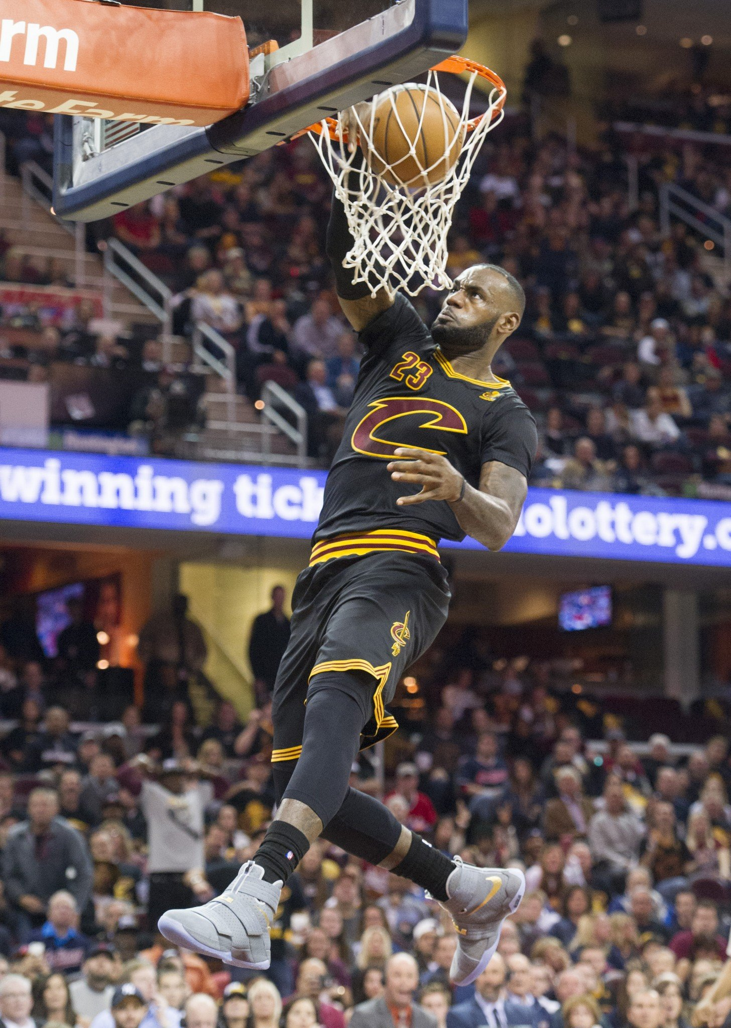 LeBron James let the Knicks know early in the third quarter he was done messing around. (AP)