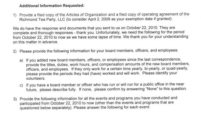 IRS document with questions