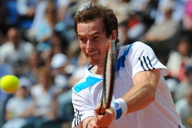Britain's Andy Murray in action in Naples on April 6, 2014