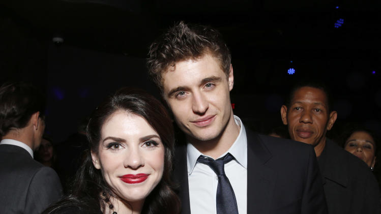 "Stephenie Meyer and Max Irons attend the after party for the LA premiere of ""The Host"" at the ArcLight Hollywood on Tuesday, March 19, 2013 in Los Angeles. (Photo by Todd Williamson/Invision/AP)"