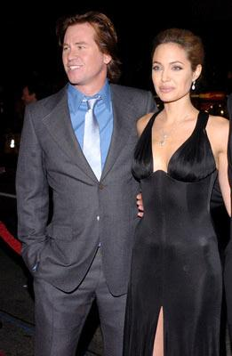 Val Kilmer and Angelina Jolie at the Hollywood premiere of Warner Bros. Alexander