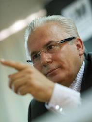 Former Spanish judge Baltasar Garzon gives a press conference in Madrid. US prosecutors are secretly preparing a case against WikiLeaks founder Julian Assange for publishing a cache of sensitive diplomatic cables, Garzon said.