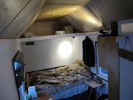 This Jan. 16, 2014 photo shows the inside of a tiny house that was built by OM Build in Madison, Wis. They want to built nine altogether and allow the homeless to live in them. (AP Photo/Carrie Antlfinger)
