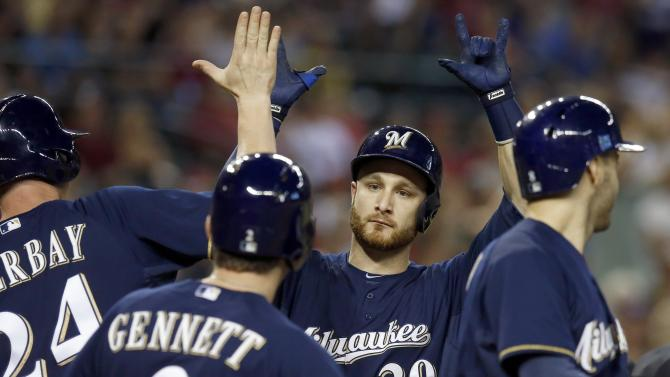 Lucroy hits slam, Brewers beat Diamondbacks 7-5