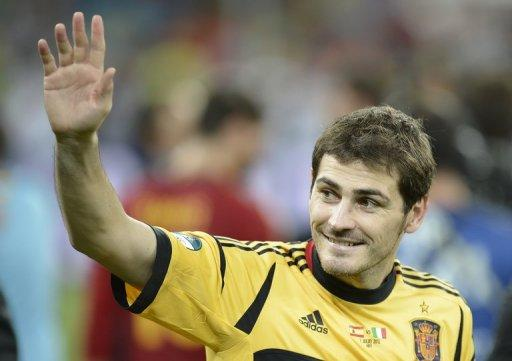 Spanish goalkeeper Iker Casillas