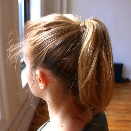 Ponytail with Wrap