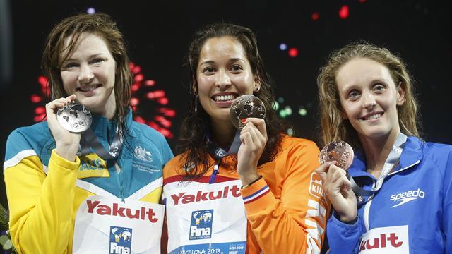 Swimming - Kromowidjojo wins 50m freestyle gold, Halsall earns bronze