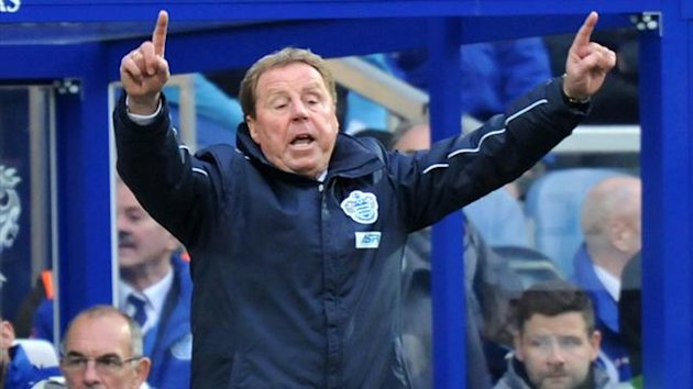 UNITED KINGDOM, London : Queens Park Rangers' English manager Harry Redknapp gestures during the English Premier League football match between Queens Park Rangers and Manchester United at Loftus Road (AFP)