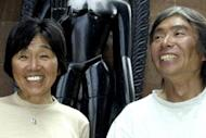A 73-year-old Japanese mountaineer who became the oldest woman to conquer Mount Everest a decade ago is attempting to smash her own record, organisers said on Monday. Tamae Watanabe, pictured here (L) in 2004, made history when she reached the world's highest peak on May 16, 2002, taking the title of world's oldest female Everest summiteer from Poland's Anna Czerwinska