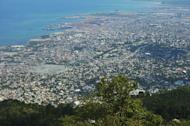 An aerial view of the city of Port-au-Prince seen from Morne Hopital, on May 13, 2013. A British man and his Haitian male partner late on Saturday were attacked by dozens of locals who threw molotov cocktails and rocks at the couple's private engagement ceremony