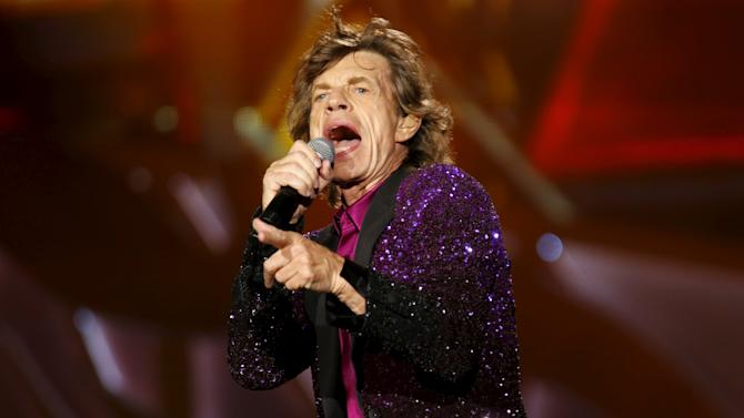 "British veteran rockers The Rolling Stones open their North American ""Zip Code"" tour in San Diego, California"