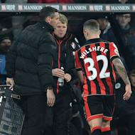The central midfielder, on loan from Arsenal, failed to make it to half-time against the title challengers, and was the third injury of the first half