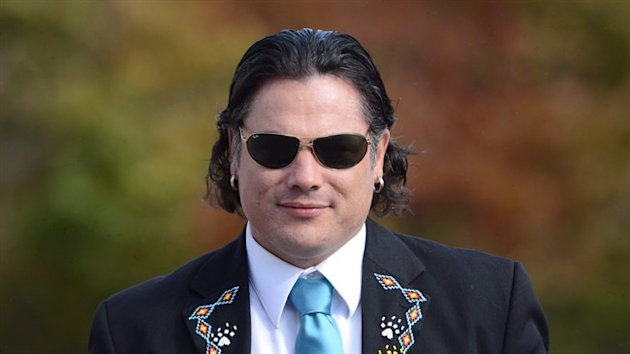 Senator Patrick Brazeau arrives at the Senate in Ottawa on Oct. 22, 2013. (Canadian Press)