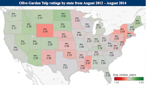 This Map Shows How Your State Feels About Olive Garden Yahoo Finance
