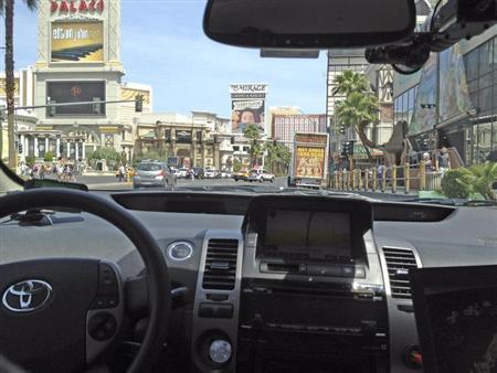Handout photo courtesy of the Nevada Department of Motor Vehicles shows a Google self-driven car in Las Vegas, Nevada, May 1, 2012. REUTERS/Nevada Department of Motor Vehicles/Handout