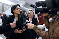 Former French justice minister Rachida Dati talks to the media in Paris on November 23, 2012. Dati, a 47-year-old single mother of North African origin, has thrown her into the ring to become mayor of the French capital
