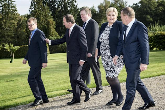 Nordic Prime Ministers meet in Denmark for informal talks on defense, security, economy, climate and migration.