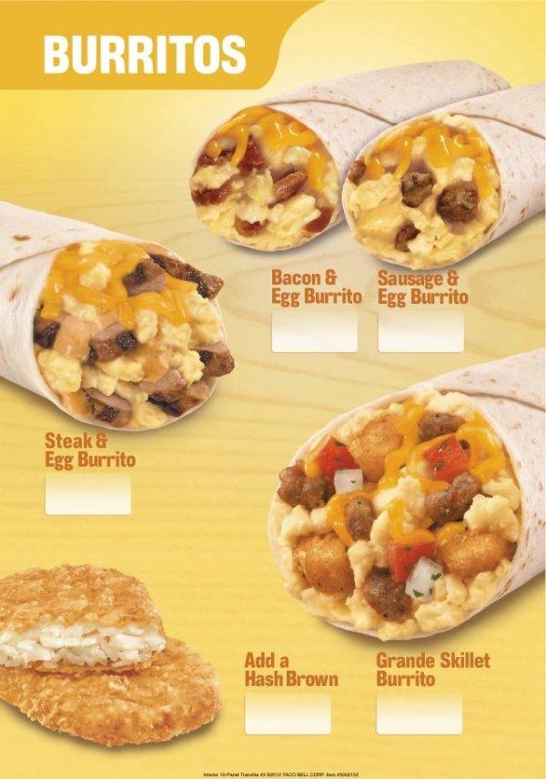 Taco Bell launches new breakfast menu - Yahoo News Singapore  Taco