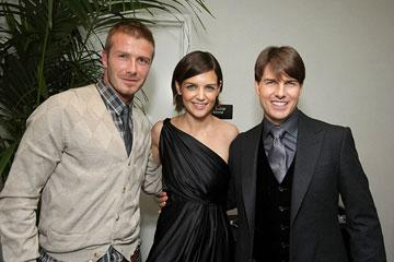 David Beckham , Katie Holmes and Tom Cruise at the AFI Fest opening night gala presentaion of United Artists' Lions for Lambs