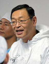 This file picture, taken in November 2011, shows Masao Yoshida, then the director of Japan's crippled Fukushima Daiichi nuclear plant. Yoshida has said he never considered withdrawing from the escalating crisis despite fearing for his life, according to reports
