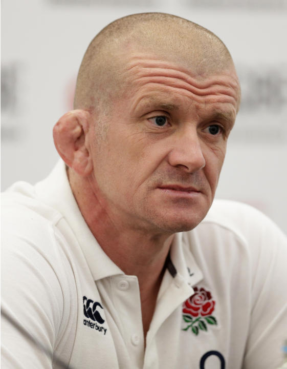 England forwards coach Graham Rowntree during the press conference