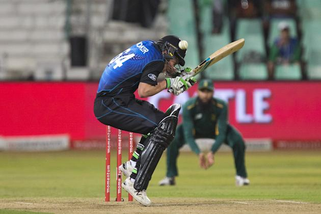 New Zealand's Worker ducks under a short ball during the 3rd One Day International cricket match against South Africa in Durban