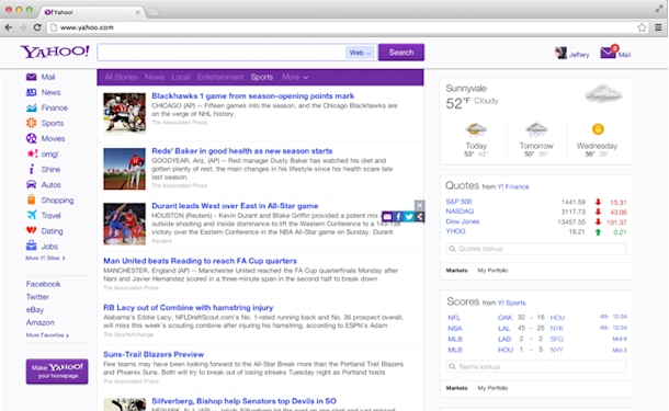 Tip 3 Share your favorite content from Yahoo!