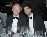 Jesse Tyler Ferguson and Justin Mikita attends the 20th Annual Elton John AIDS Foundation Academy Awards Viewing Party at The City of West Hollywood Park, West Hollywood, on February 26, 2012 -- Getty Images