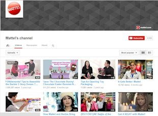 YouTube: Combining Customer Service and Social Media Strategy image Mattel Capture