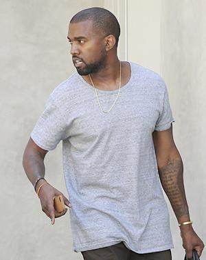 "Kanye West Wears ""Nori"" Necklace Like Kim Kardashian: Picture"