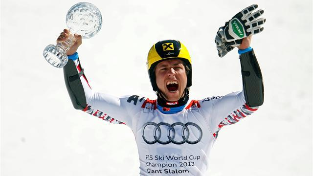 Alpine Skiing - Hirscher claims Skieur d'Or gong