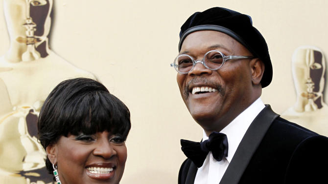 "FILE - This March 7, 2010 file photo shows actor Samuel L. Jackson and his actress wife LaTanya Richardson at the 82nd Academy Awards in the Hollywood section of Los Angeles. Richardson Jackson, who was last on Broadway in the Tony-winning 2009 revival of ""Joe Turner's Come and Gone,"" was asked on to take over for Diahann Carroll in next month's Broadway revival of ""A Raisin in the Sun."" (AP Photo/Matt Sayles, File)"