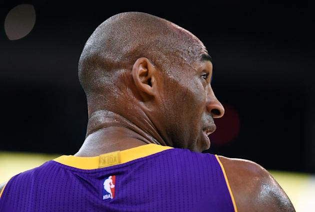 Kobe Bryant, pictured on November 24, 2015, has had such a poor start to the season, many speculate that this year will be his last in the NBA