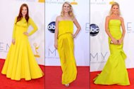 Julianne Moore, Claire Danes and Julie Bowen are gorgeous in yellow at the 2012 Emmys -- Getty Images