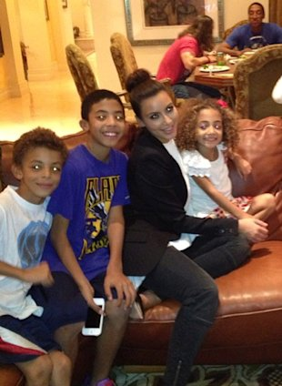 Is Kim Kardashian Feeling Broody? Reality Star Enjoys Time With Friend's Kids