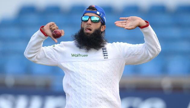 Cricket: England's Moeen Ali during nets